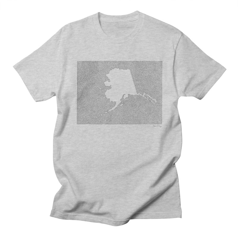 Alaska - One Continuous Line Men's Regular T-Shirt by Daniel Dugan's Artist Shop