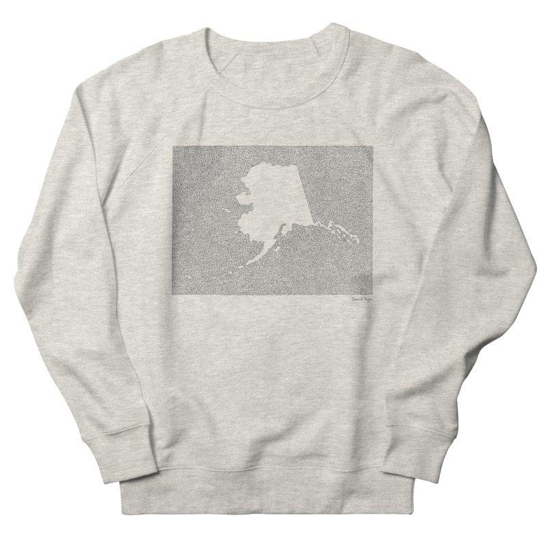Alaska - One Continuous Line Women's Sweatshirt by Daniel Dugan's Artist Shop