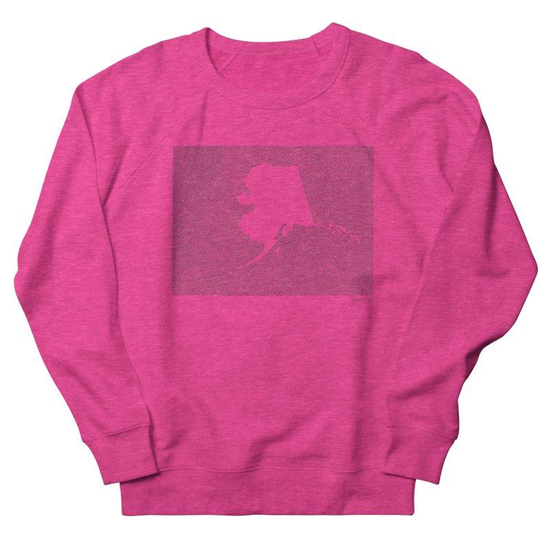 Alaska - One Continuous Line Men's French Terry Sweatshirt by Daniel Dugan's Artist Shop