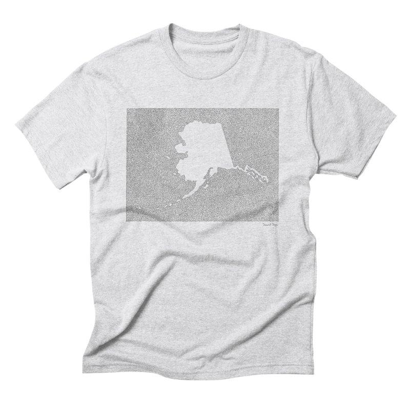 Alaska - One Continuous Line Men's Triblend T-Shirt by Daniel Dugan's Artist Shop