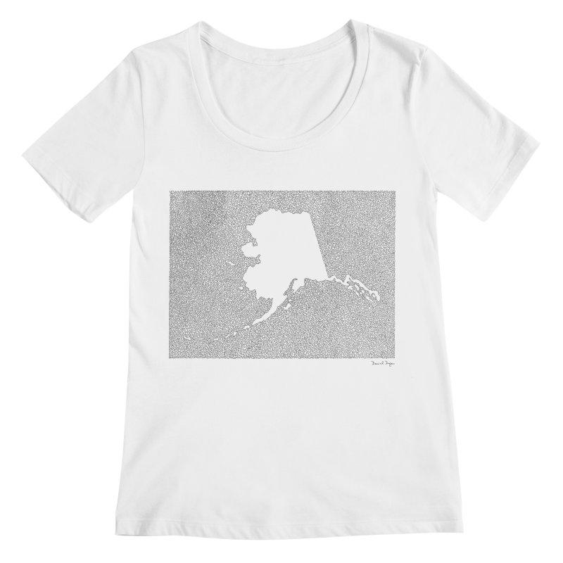 Alaska - One Continuous Line Women's Scoopneck by Daniel Dugan's Artist Shop