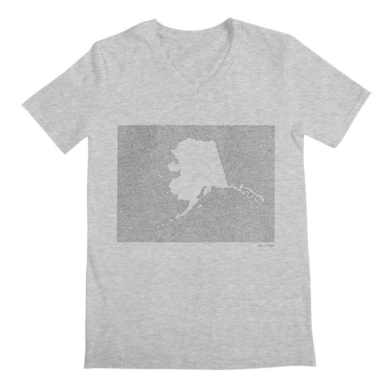 Alaska - One Continuous Line Men's Regular V-Neck by Daniel Dugan's Artist Shop