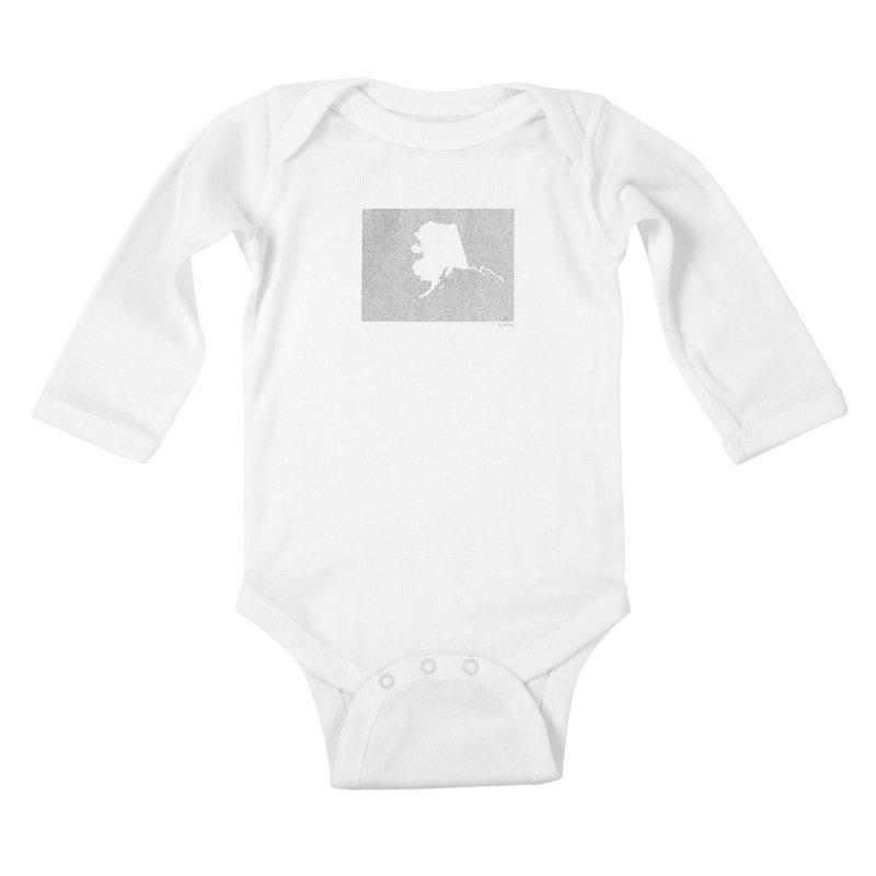 Alaska - One Continuous Line Kids Baby Longsleeve Bodysuit by Daniel Dugan's Artist Shop