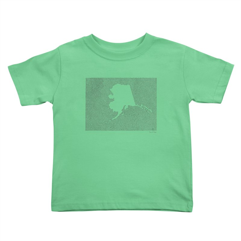 Alaska - One Continuous Line Kids Toddler T-Shirt by Daniel Dugan's Artist Shop