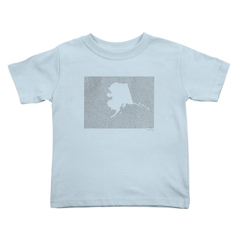 Alaska - One Continuous Line Kids Toddler T-Shirt by Daniel Dugan's Artist Shop