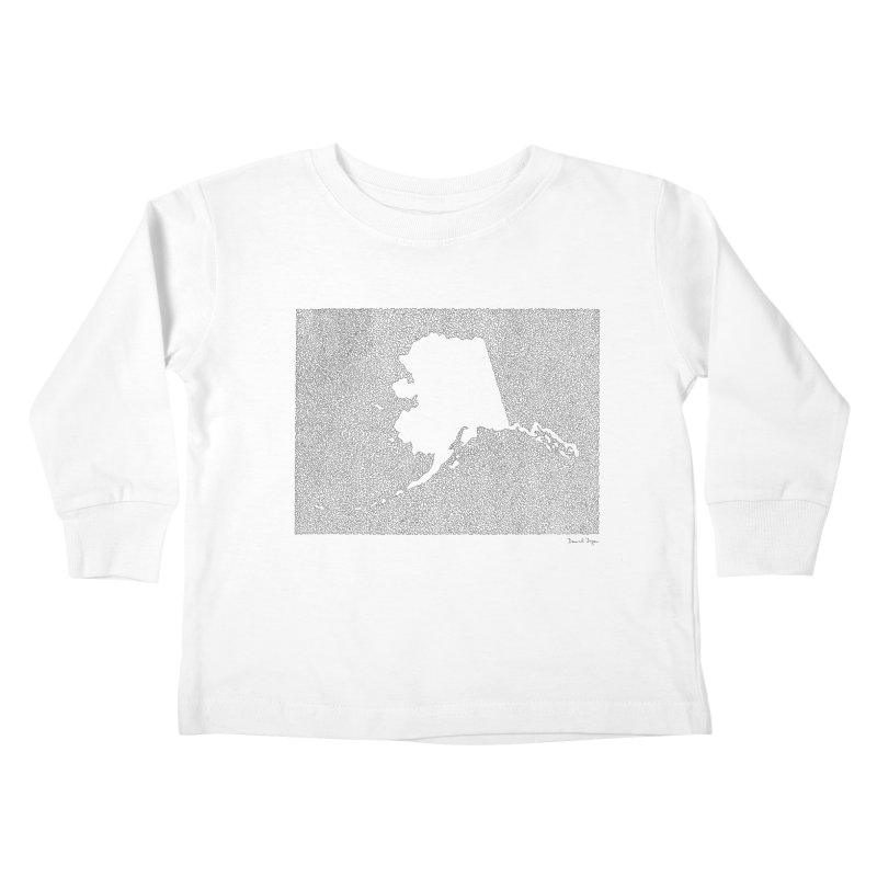 Alaska - One Continuous Line Kids Toddler Longsleeve T-Shirt by Daniel Dugan's Artist Shop