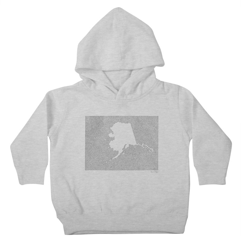 Alaska - One Continuous Line Kids Toddler Pullover Hoody by Daniel Dugan's Artist Shop