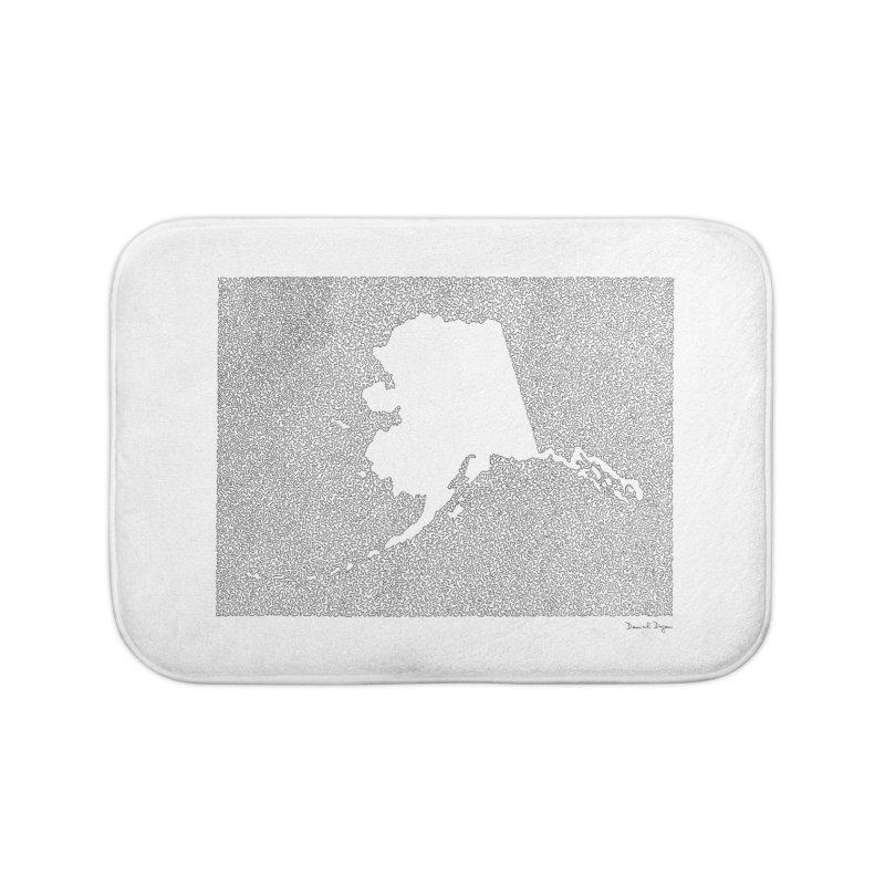 Alaska - One Continuous Line Home Bath Mat by Daniel Dugan's Artist Shop