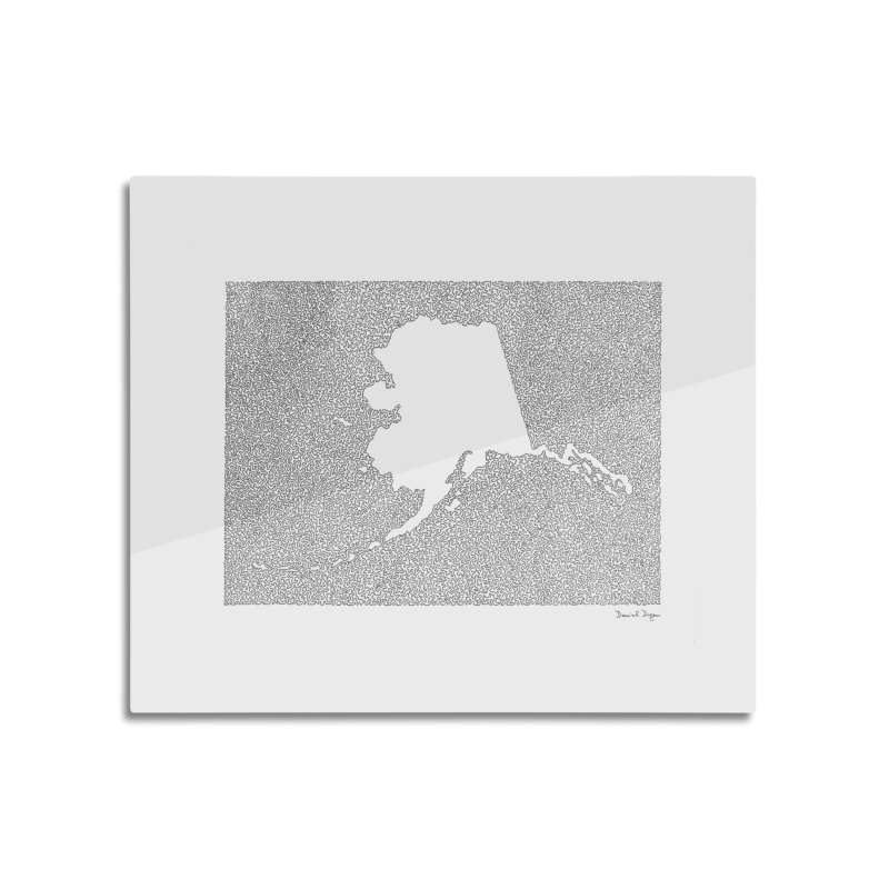 Alaska - One Continuous Line Home Mounted Acrylic Print by Daniel Dugan's Artist Shop