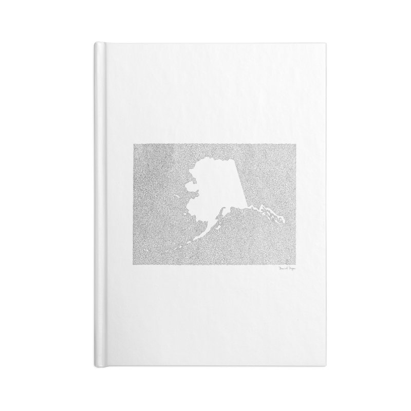 Alaska - One Continuous Line Accessories Notebook by Daniel Dugan's Artist Shop