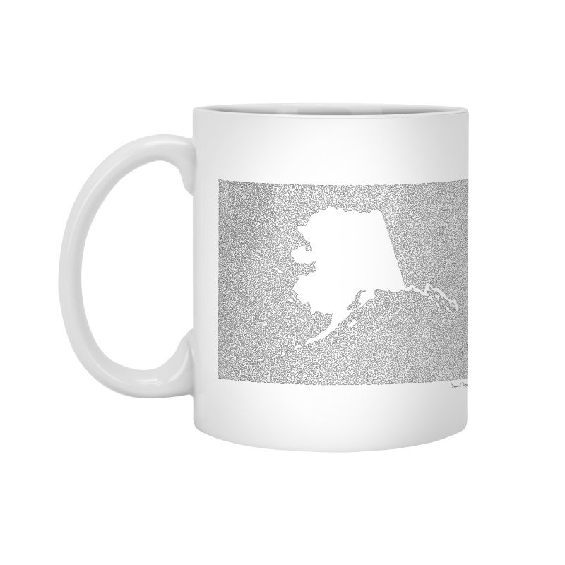 Alaska - One Continuous Line Accessories Mug by Daniel Dugan's Artist Shop