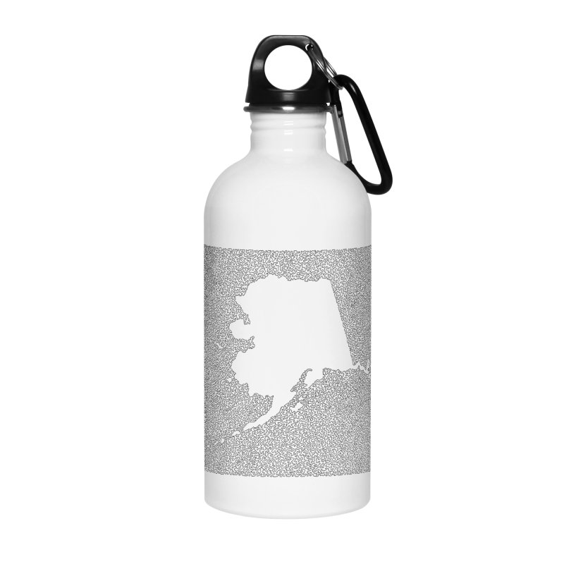 Alaska - One Continuous Line Accessories Water Bottle by Daniel Dugan's Artist Shop