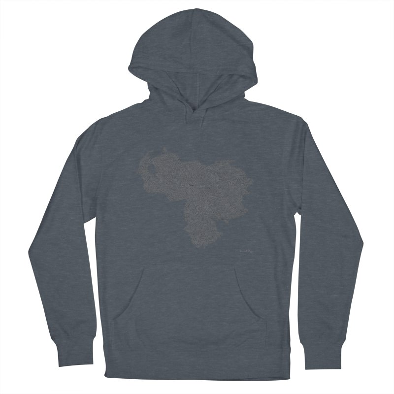 Venezuela Map (One Continuous Line) by Daniel Dugan Women's French Terry Pullover Hoody by Daniel Dugan's Artist Shop