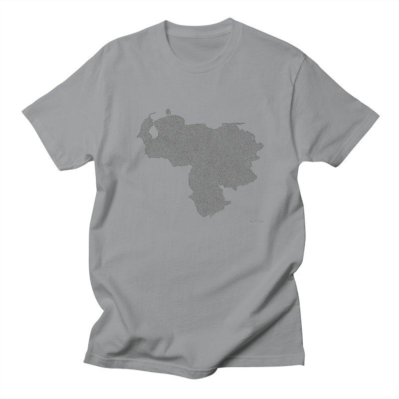 Venezuela Map (One Continuous Line) by Daniel Dugan Men's Regular T-Shirt by Daniel Dugan's Artist Shop
