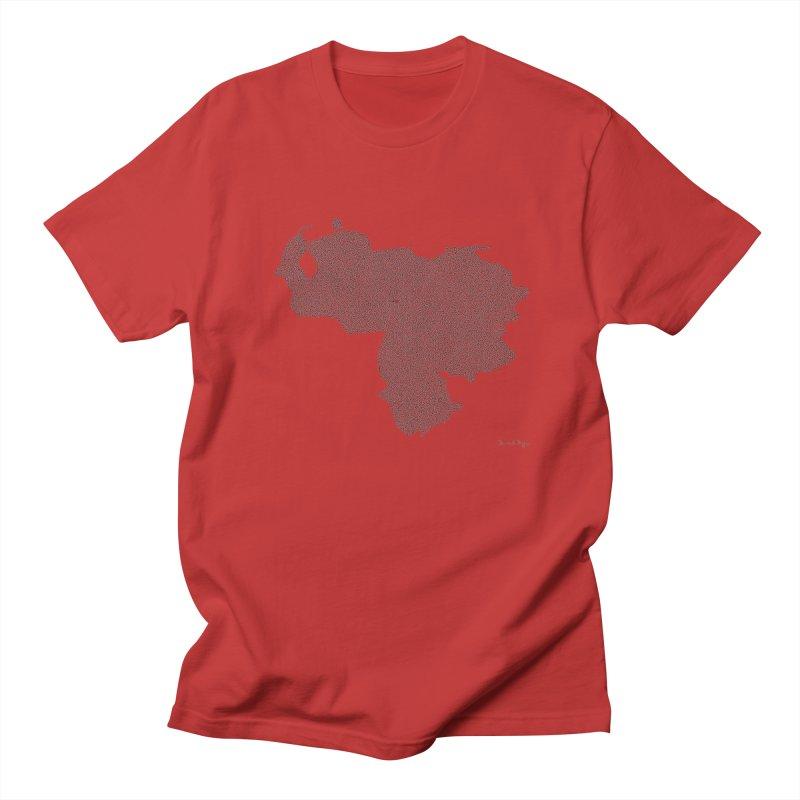 Venezuela Map (One Continuous Line) by Daniel Dugan Women's Unisex T-Shirt by Daniel Dugan's Artist Shop