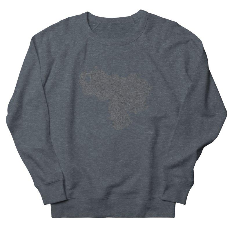 Venezuela Map (One Continuous Line) by Daniel Dugan Women's Sweatshirt by Daniel Dugan's Artist Shop