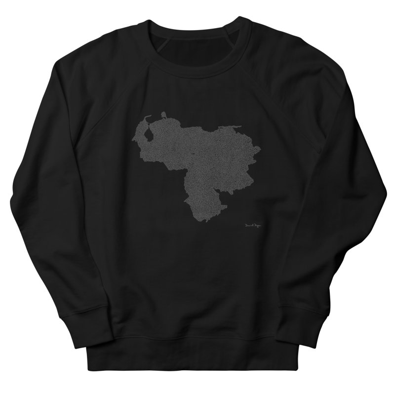 Venezuela Map (One Continuous Line) by Daniel Dugan Women's French Terry Sweatshirt by Daniel Dugan's Artist Shop