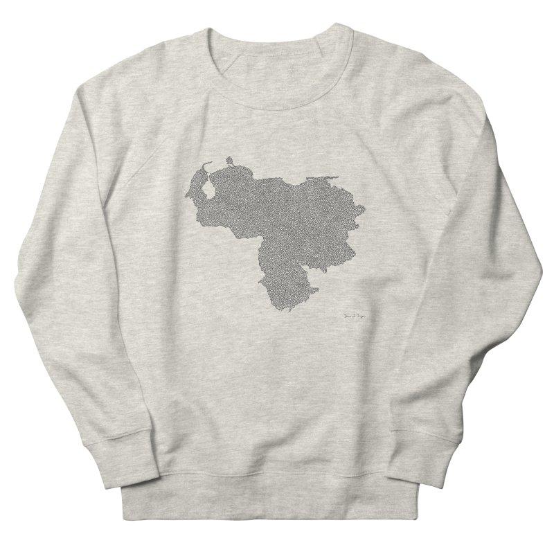 Venezuela Map (One Continuous Line) by Daniel Dugan Men's Sweatshirt by Daniel Dugan's Artist Shop