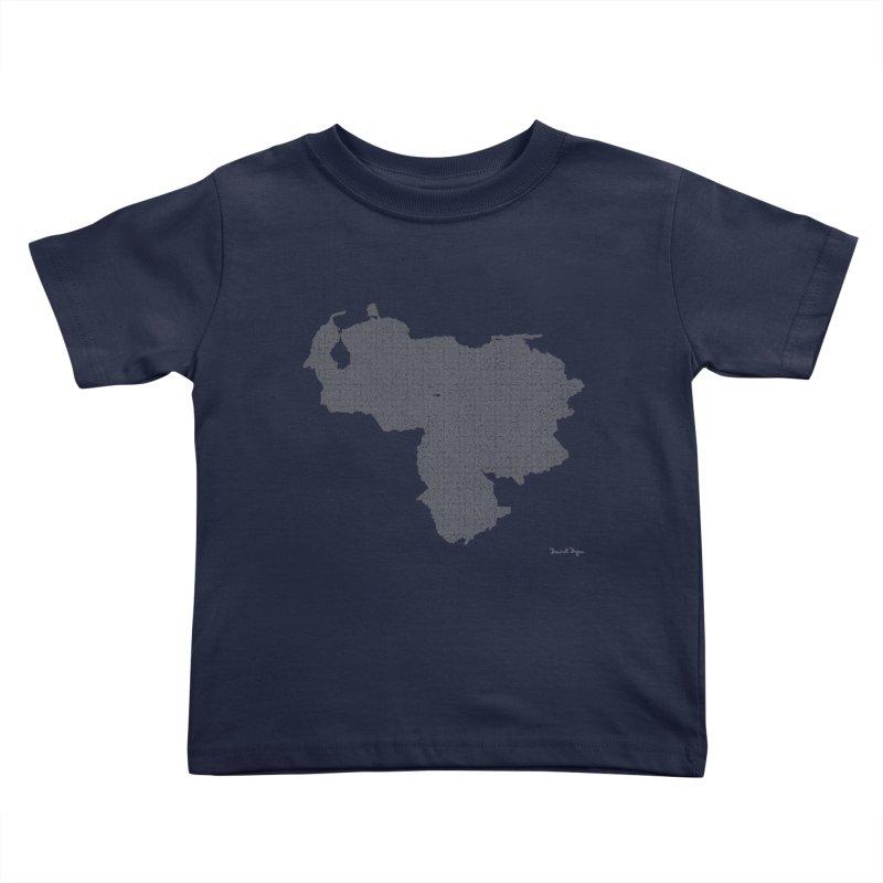 Venezuela Map (One Continuous Line) by Daniel Dugan Kids Toddler T-Shirt by Daniel Dugan's Artist Shop