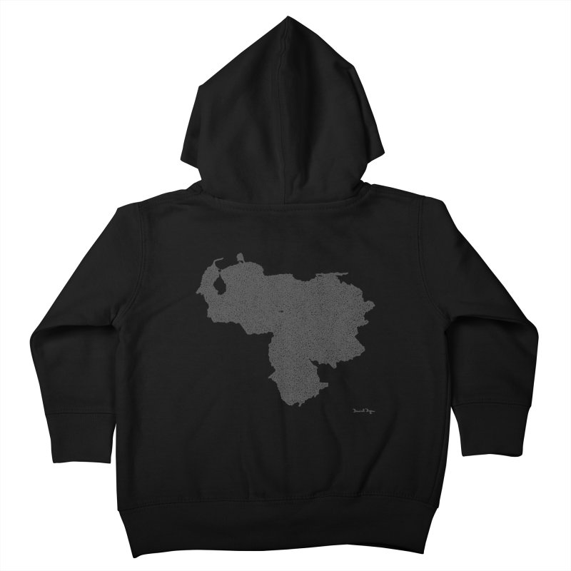 Venezuela Map (One Continuous Line) by Daniel Dugan Kids Toddler Zip-Up Hoody by Daniel Dugan's Artist Shop