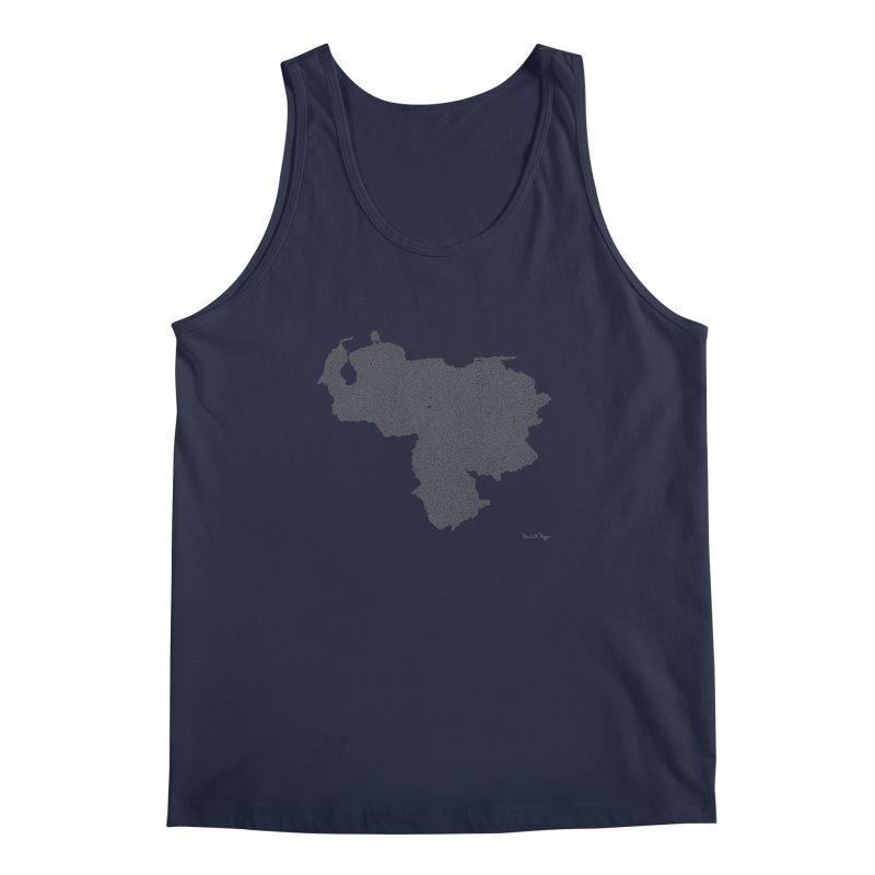Venezuela Map (One Continuous Line) by Daniel Dugan Men's Tank by Daniel Dugan's Artist Shop
