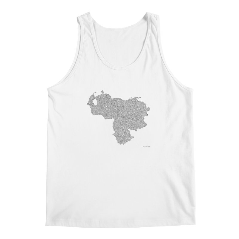 Venezuela Map (One Continuous Line) by Daniel Dugan Men's Tank by Daniel Dugan's Artist Shop