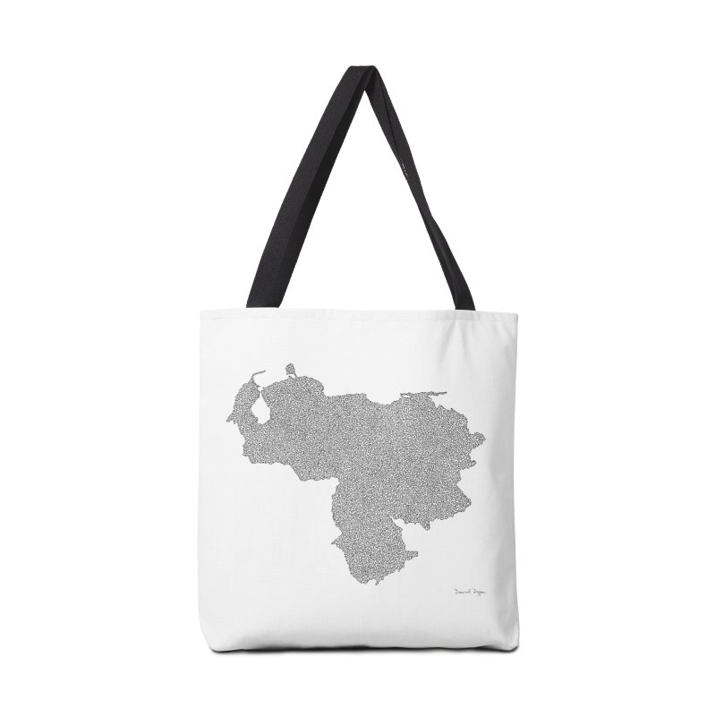 Venezuela Map (One Continuous Line) by Daniel Dugan Accessories Bag by Daniel Dugan's Artist Shop