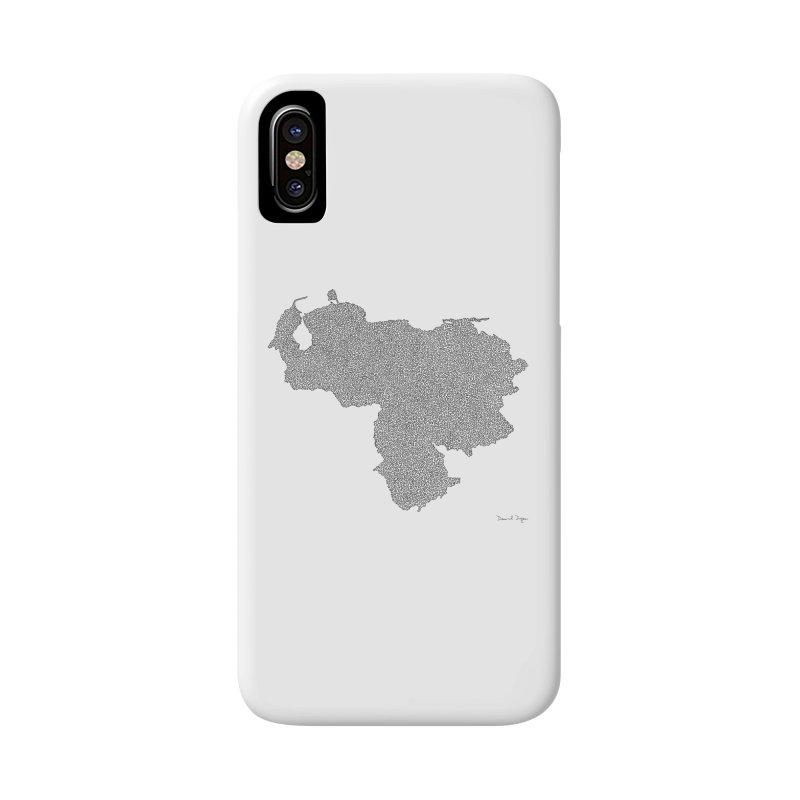 Venezuela Map (One Continuous Line) by Daniel Dugan Accessories Phone Case by Daniel Dugan's Artist Shop