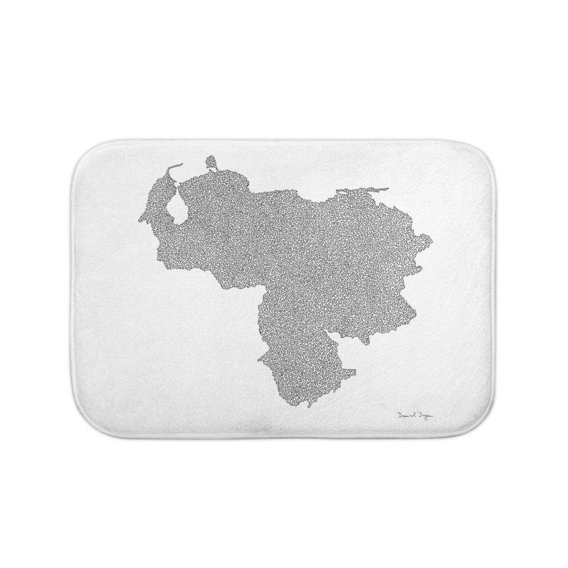Venezuela Map (One Continuous Line) by Daniel Dugan Home Bath Mat by Daniel Dugan's Artist Shop