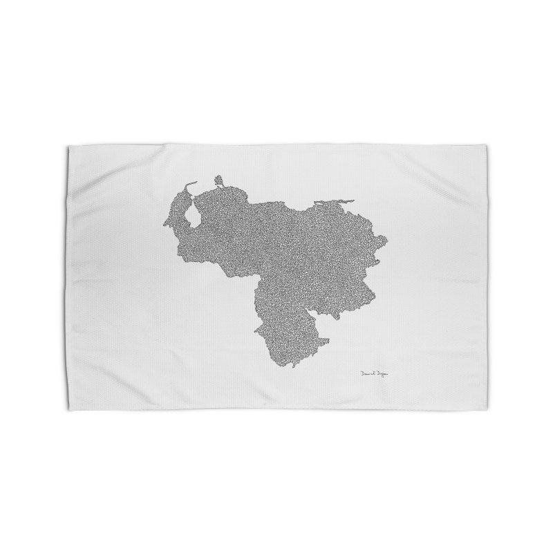 Venezuela Map (One Continuous Line) by Daniel Dugan Home Rug by Daniel Dugan's Artist Shop