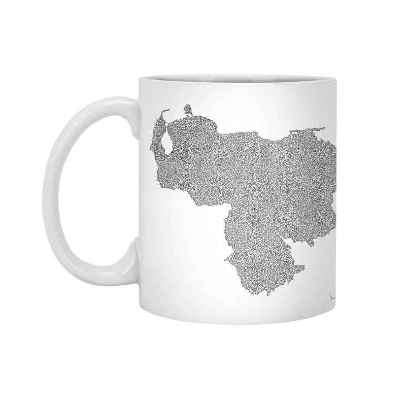 Venezuela Map (One Continuous Line) by Daniel Dugan Accessories Mug by Daniel Dugan's Artist Shop