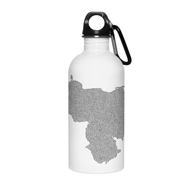 Venezuela Map (One Continuous Line) by Daniel Dugan Accessories Water Bottle by Daniel Dugan's Artist Shop