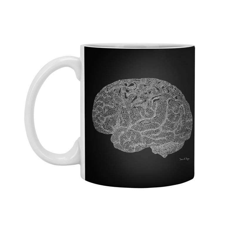 Brain WHITE Accessories Mug by Daniel Dugan's Artist Shop