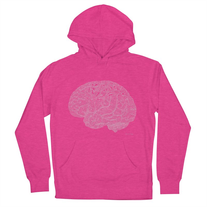 Brain WHITE Women's Pullover Hoody by Daniel Dugan's Artist Shop