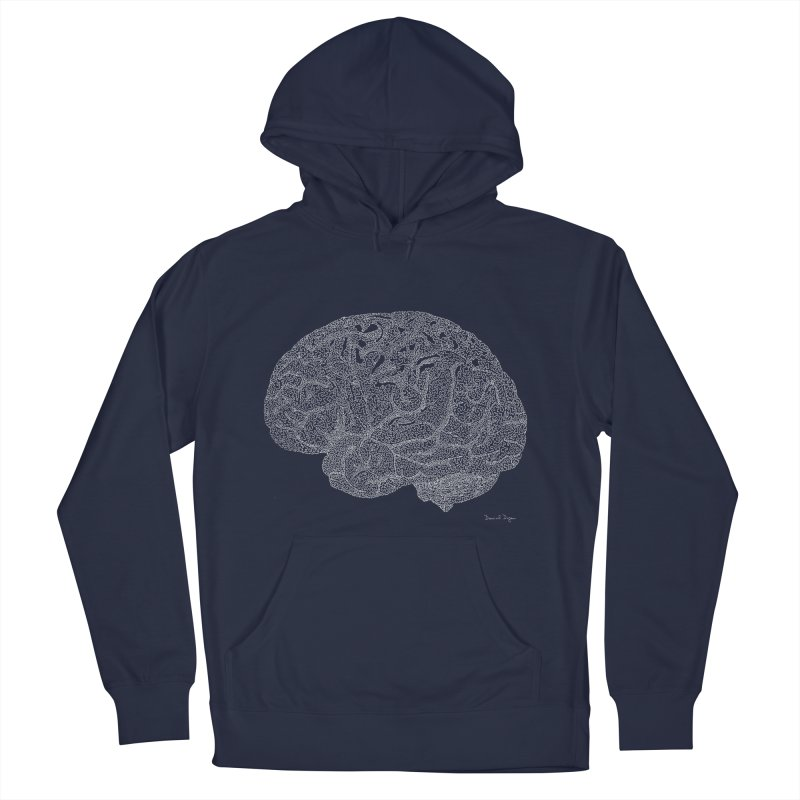 Brain WHITE Men's Pullover Hoody by Daniel Dugan's Artist Shop