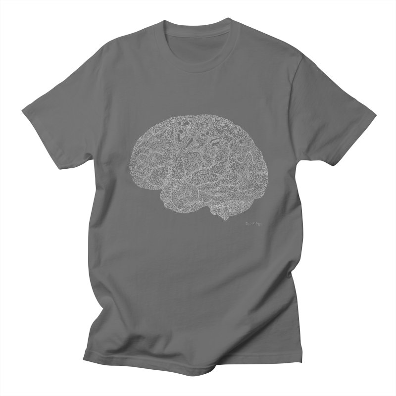 Brain WHITE Men's T-Shirt by Daniel Dugan's Artist Shop