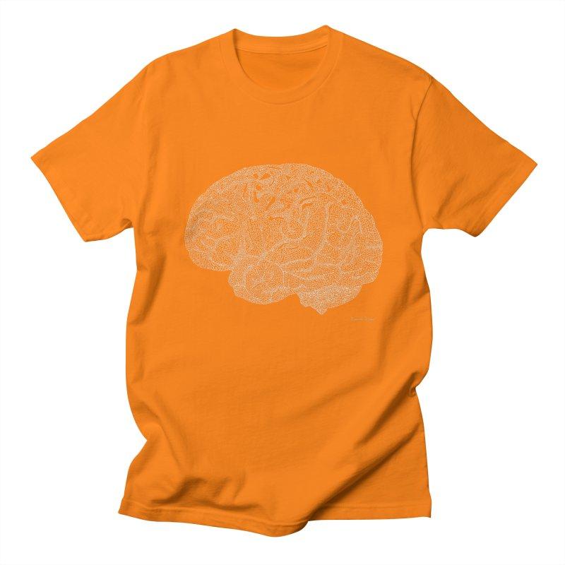 Brain WHITE Men's T-Shirt by Daniel Dugan's Artist Shop