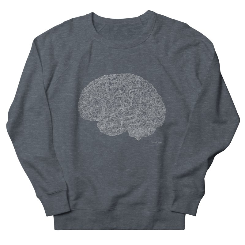 Brain WHITE Men's Sweatshirt by Daniel Dugan's Artist Shop