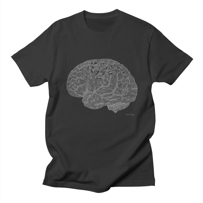 Brain WHITE Women's Regular Unisex T-Shirt by Daniel Dugan's Artist Shop