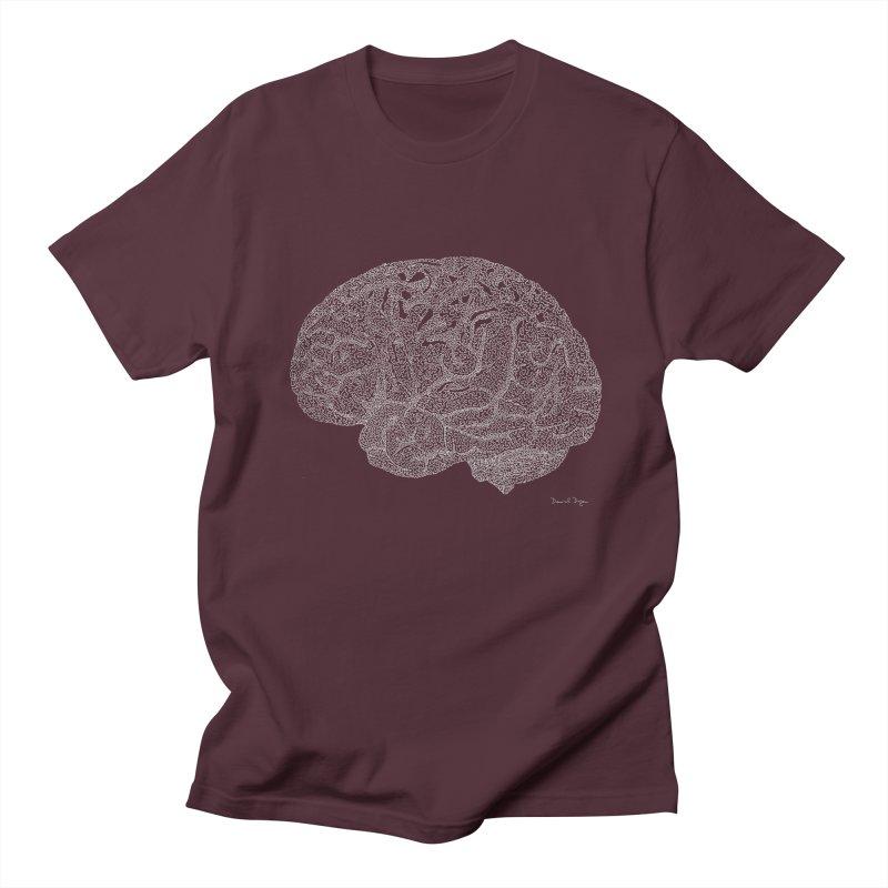 Brain WHITE Men's Regular T-Shirt by Daniel Dugan's Artist Shop