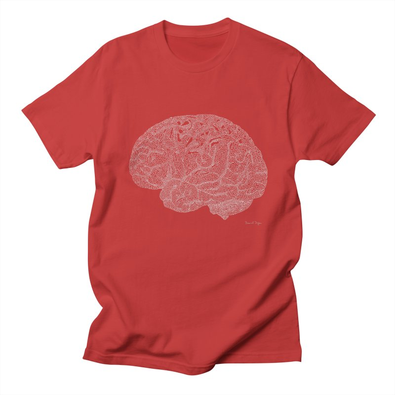 Brain WHITE Women's Regular Unisex T-Shirt by Daniel Dugan's Artist Shop
