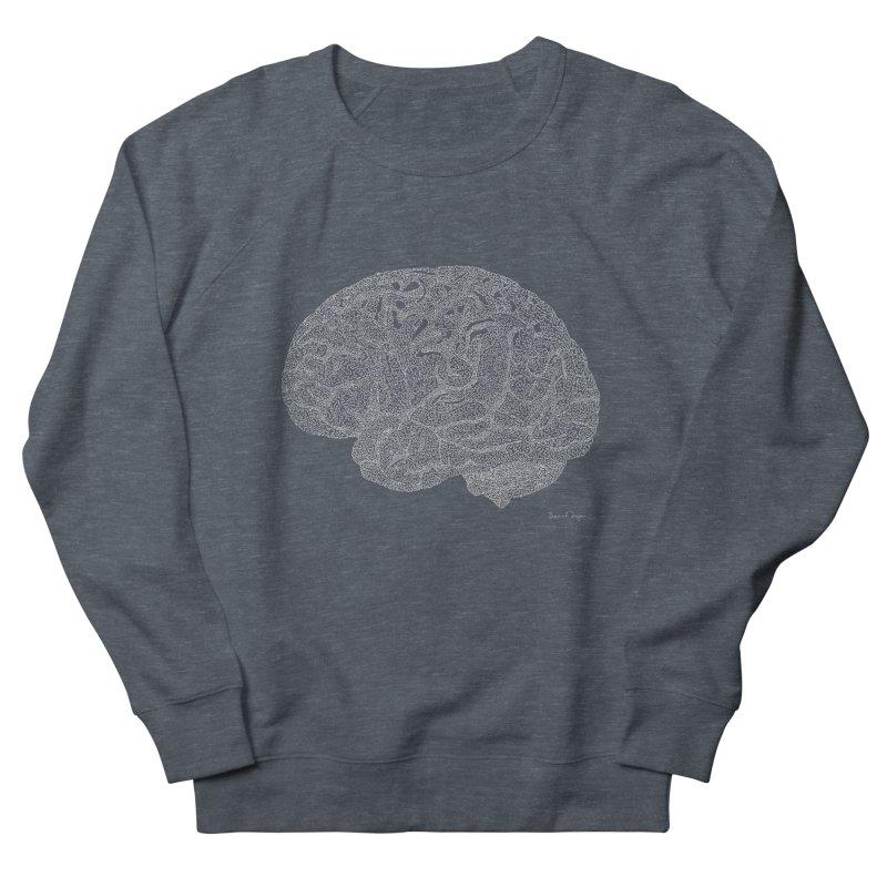 Brain WHITE Women's French Terry Sweatshirt by Daniel Dugan's Artist Shop