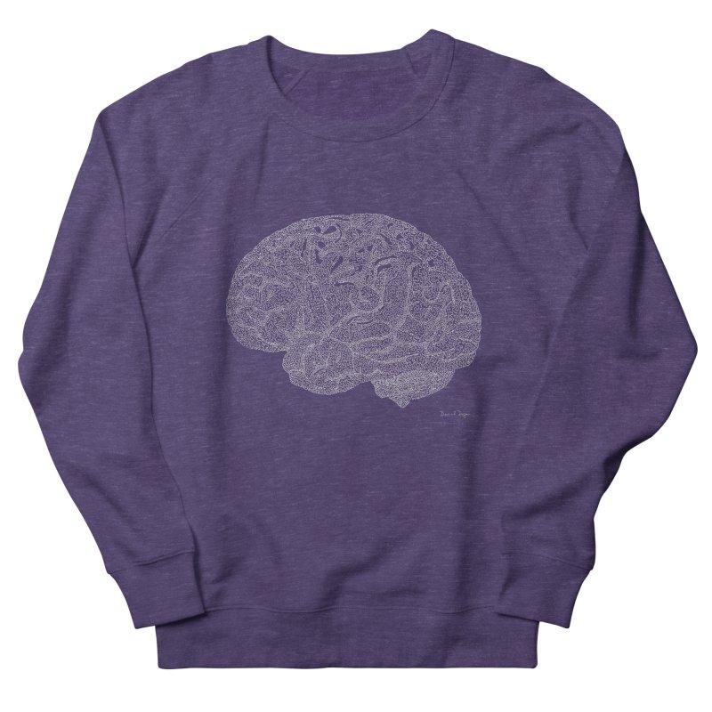 Brain WHITE Men's French Terry Sweatshirt by Daniel Dugan's Artist Shop
