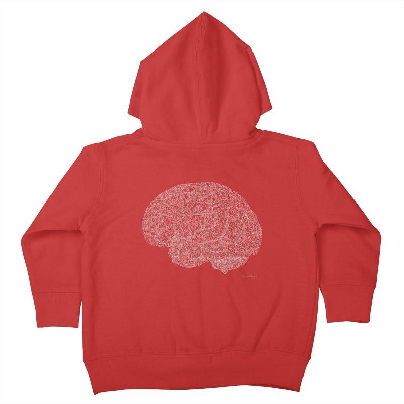 Brain WHITE Kids Toddler Zip-Up Hoody by Daniel Dugan's Artist Shop