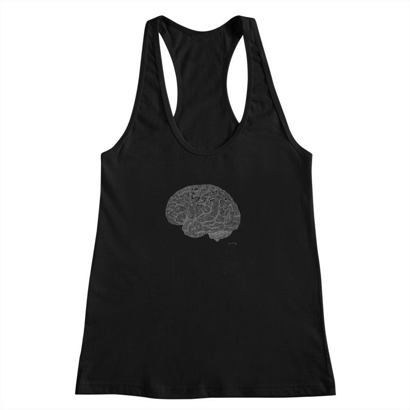 Brain WHITE Women's Tank by Daniel Dugan's Artist Shop