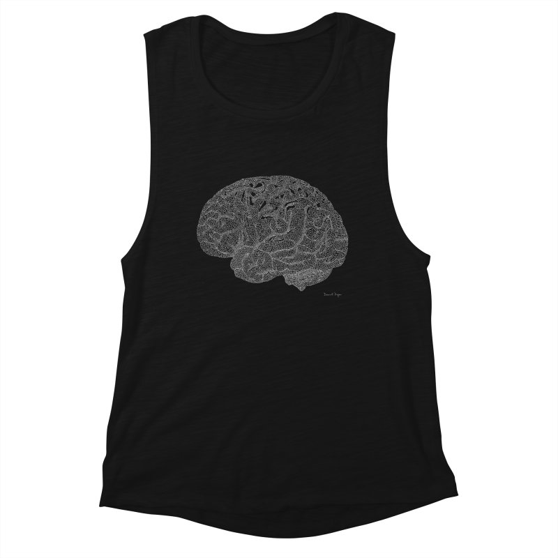 Brain WHITE Women's Tank by Daniel Dugan's Artist Shop