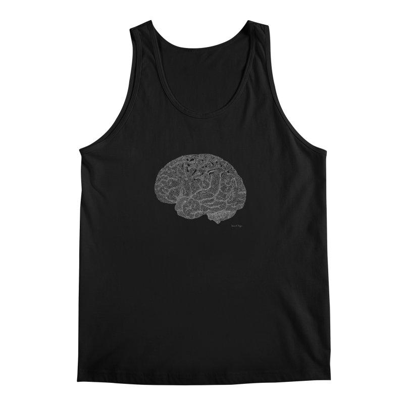 Brain WHITE Men's Regular Tank by Daniel Dugan's Artist Shop