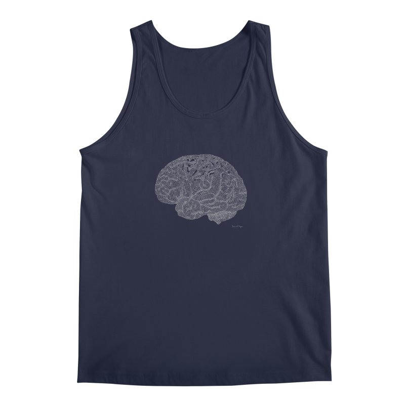 Brain WHITE Men's Regular Tank by Daniel Dugan's Artist Shop