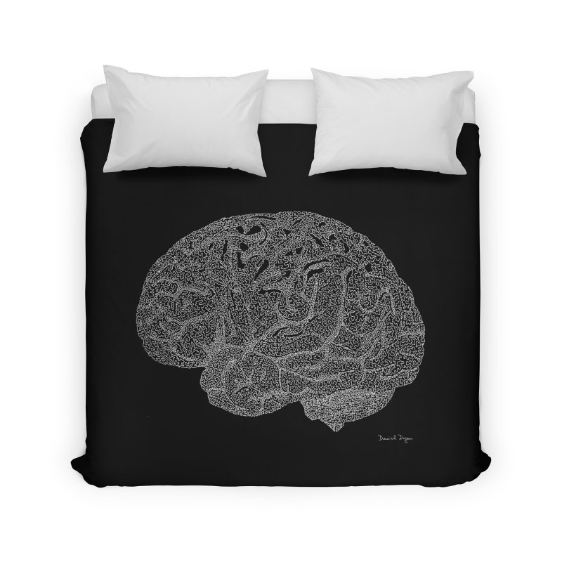 Brain WHITE Home Duvet by Daniel Dugan's Artist Shop