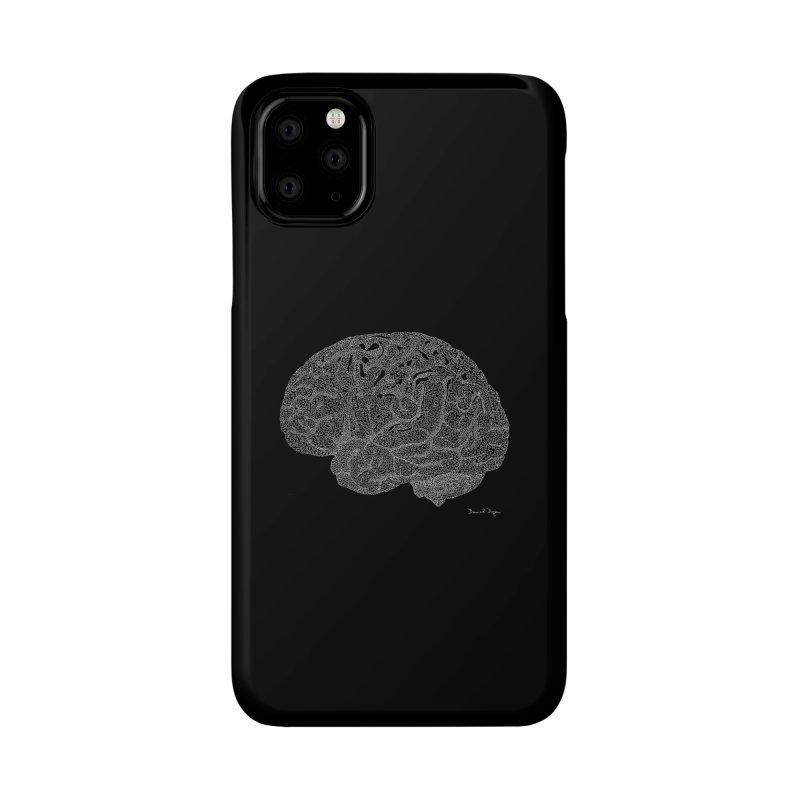 Brain (For Dark Backgrounds) Accessories Phone Case by Daniel Dugan's Artist Shop